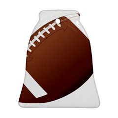 Football American Sport Ball Bell Ornament (two Sides)