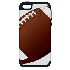 Football American Sport Ball Apple Iphone 5 Hardshell Case (pc+silicone)