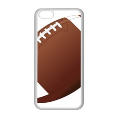 Football American Sport Ball Apple Iphone 5c Seamless Case (white) by Alisyart