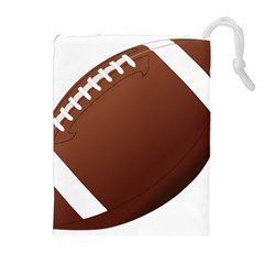 Football American Sport Ball Drawstring Pouches (extra Large) by Alisyart