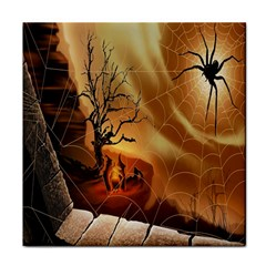 Digital Art Nature Spider Witch Spiderwebs Bricks Window Trees Fire Boiler Cliff Rock Tile Coasters