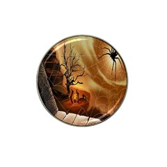 Digital Art Nature Spider Witch Spiderwebs Bricks Window Trees Fire Boiler Cliff Rock Hat Clip Ball Marker (10 Pack) by Simbadda