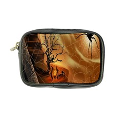 Digital Art Nature Spider Witch Spiderwebs Bricks Window Trees Fire Boiler Cliff Rock Coin Purse by Simbadda
