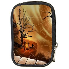 Digital Art Nature Spider Witch Spiderwebs Bricks Window Trees Fire Boiler Cliff Rock Compact Camera Cases by Simbadda