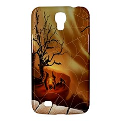 Digital Art Nature Spider Witch Spiderwebs Bricks Window Trees Fire Boiler Cliff Rock Samsung Galaxy Mega 6 3  I9200 Hardshell Case