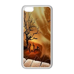 Digital Art Nature Spider Witch Spiderwebs Bricks Window Trees Fire Boiler Cliff Rock Apple Iphone 5c Seamless Case (white) by Simbadda