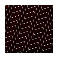 Lines Pattern Square Blocky Tile Coasters