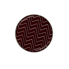 Lines Pattern Square Blocky Hat Clip Ball Marker (4 Pack)