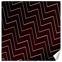 Lines Pattern Square Blocky Canvas 12  X 12   by Simbadda