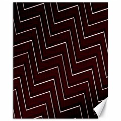 Lines Pattern Square Blocky Canvas 11  X 14