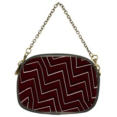Lines Pattern Square Blocky Chain Purses (one Side)  by Simbadda
