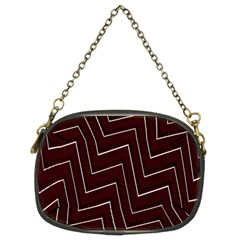 Lines Pattern Square Blocky Chain Purses (two Sides)  by Simbadda