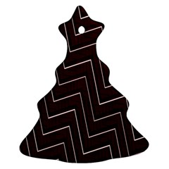 Lines Pattern Square Blocky Christmas Tree Ornament (two Sides)