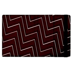 Lines Pattern Square Blocky Apple Ipad 3/4 Flip Case by Simbadda
