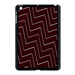 Lines Pattern Square Blocky Apple Ipad Mini Case (black)