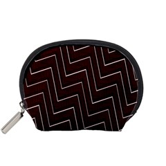 Lines Pattern Square Blocky Accessory Pouches (small)  by Simbadda