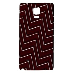 Lines Pattern Square Blocky Galaxy Note 4 Back Case