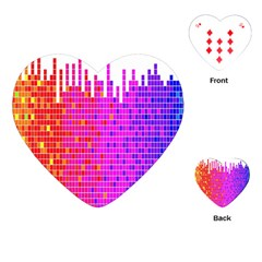 Square Spectrum Abstract Playing Cards (heart)  by Simbadda