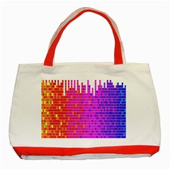 Square Spectrum Abstract Classic Tote Bag (red)