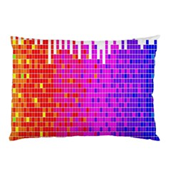 Square Spectrum Abstract Pillow Case by Simbadda