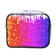 Square Spectrum Abstract Mini Toiletries Bags by Simbadda