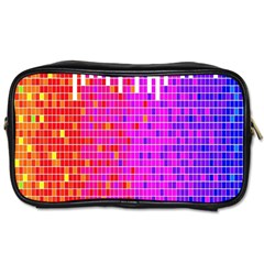 Square Spectrum Abstract Toiletries Bags by Simbadda