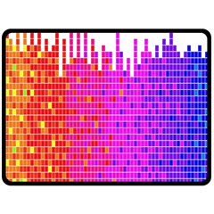 Square Spectrum Abstract Fleece Blanket (large)