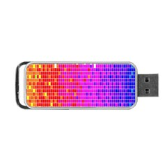 Square Spectrum Abstract Portable Usb Flash (one Side) by Simbadda