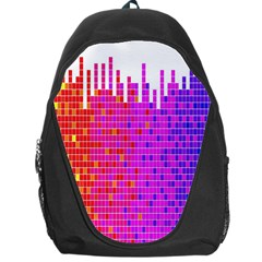 Square Spectrum Abstract Backpack Bag by Simbadda