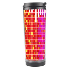 Square Spectrum Abstract Travel Tumbler