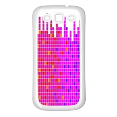Square Spectrum Abstract Samsung Galaxy S3 Back Case (white)