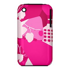 Flower Floral Leaf Circle Pink White Iphone 3s/3gs by Alisyart