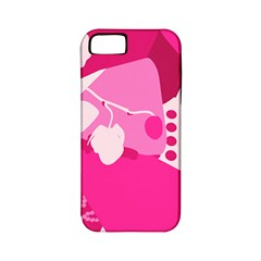 Flower Floral Leaf Circle Pink White Apple Iphone 5 Classic Hardshell Case (pc+silicone) by Alisyart