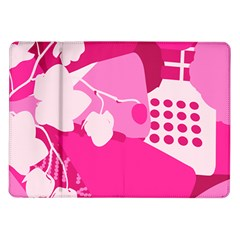 Flower Floral Leaf Circle Pink White Samsung Galaxy Tab 10 1  P7500 Flip Case