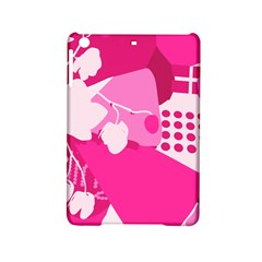 Flower Floral Leaf Circle Pink White Ipad Mini 2 Hardshell Cases by Alisyart