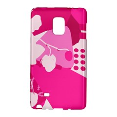 Flower Floral Leaf Circle Pink White Galaxy Note Edge by Alisyart
