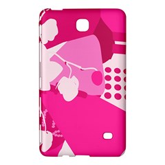 Flower Floral Leaf Circle Pink White Samsung Galaxy Tab 4 (8 ) Hardshell Case  by Alisyart