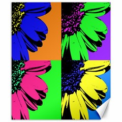 Flower Pop Sunflower Canvas 8  X 10  by Alisyart