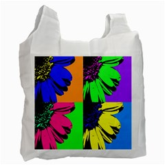 Flower Pop Sunflower Recycle Bag (two Side)  by Alisyart