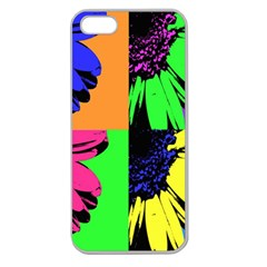 Flower Pop Sunflower Apple Seamless Iphone 5 Case (clear) by Alisyart