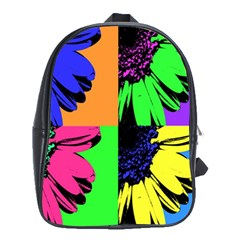 Flower Pop Sunflower School Bags (xl)  by Alisyart