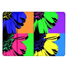 Flower Pop Sunflower Samsung Galaxy Tab 10 1  P7500 Flip Case
