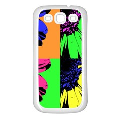 Flower Pop Sunflower Samsung Galaxy S3 Back Case (white) by Alisyart