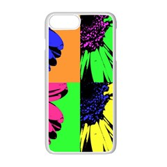Flower Pop Sunflower Apple Iphone 7 Plus White Seamless Case by Alisyart