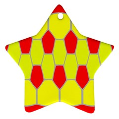 Football Blender Image Map Red Yellow Sport Ornament (star) by Alisyart