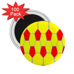 Football Blender Image Map Red Yellow Sport 2 25  Magnets (100 Pack)  by Alisyart