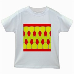 Football Blender Image Map Red Yellow Sport Kids White T Shirts by Alisyart