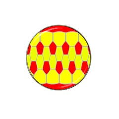 Football Blender Image Map Red Yellow Sport Hat Clip Ball Marker (10 Pack) by Alisyart