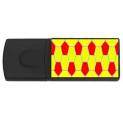Football Blender Image Map Red Yellow Sport Usb Flash Drive Rectangular (4 Gb)