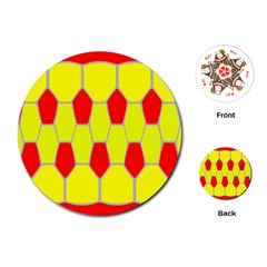 Football Blender Image Map Red Yellow Sport Playing Cards (round)